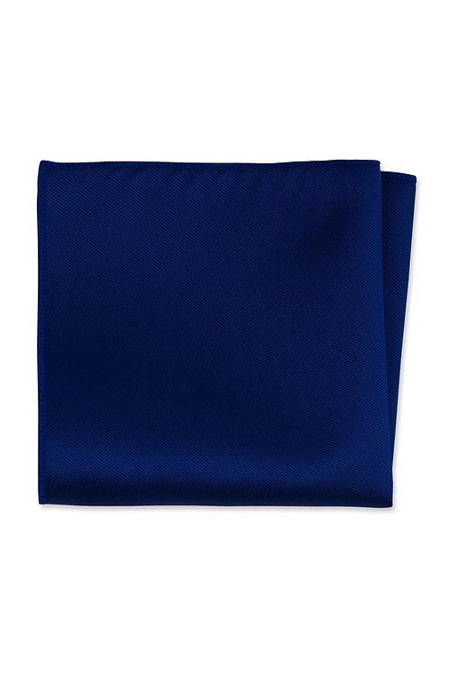 Solid Cobalt Pocket Square