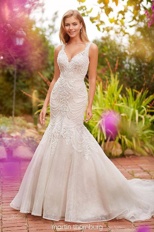 Harlow 120240 Martin Thornburg Trumpet Wedding Dress- To Order