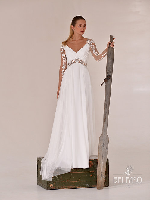 Mina Belfaso  Sheath Wedding Dress- To Order