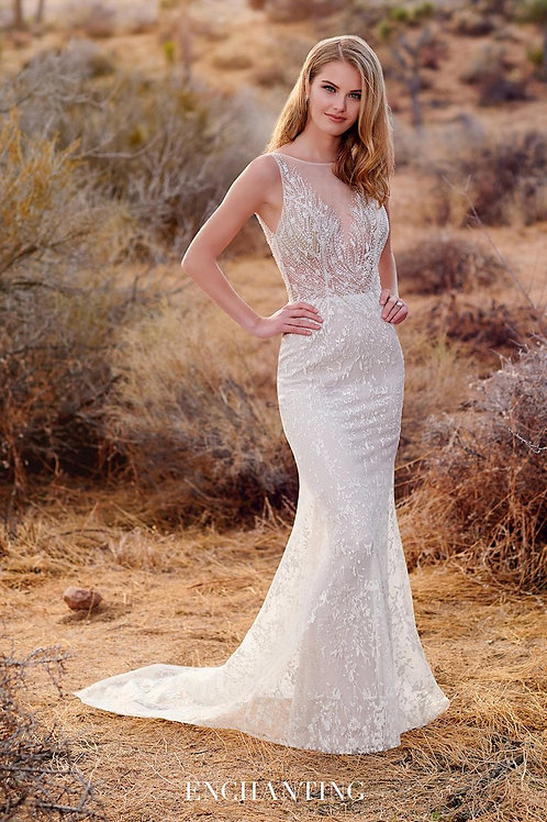 220120 Enchanting Fit & Flare Wedding Dress- In Stock