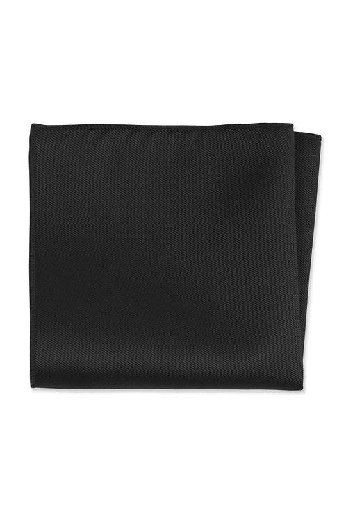 Expressions Black Pocket Square