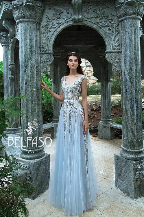 Blue Aqua Belfaso Sheath Wedding Dress- To Order