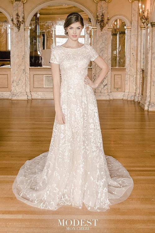 TR22060 Modest by Mon Cheri A-line Wedding Dress- In Stock