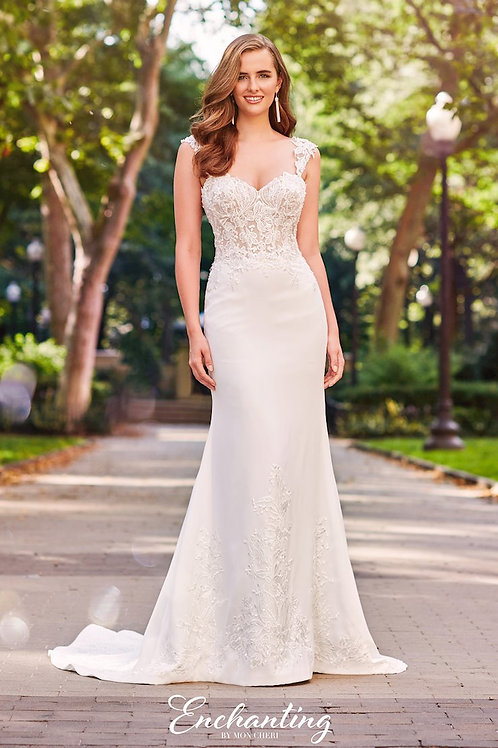 120162 Enchanting Fit & Flare Wedding Dress- To Order