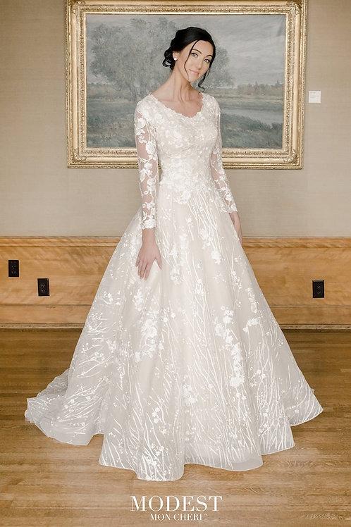 TR22052 Modest by Mon Cheri Ballgown Wedding Dress- To Order