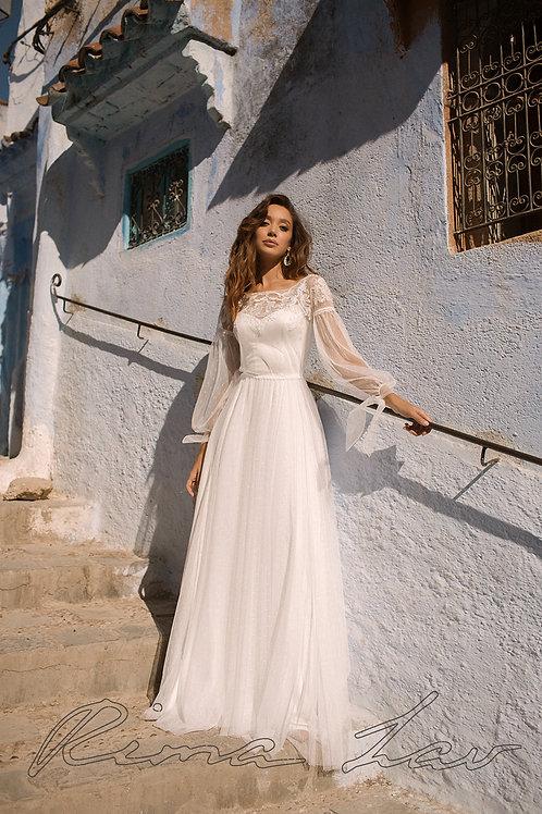 Aysha Rima Lav Sheath Wedding Dress- To Order