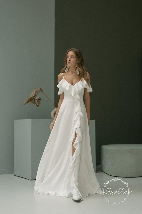 Samina Zuzu Sheath Wedding Dress- To Order