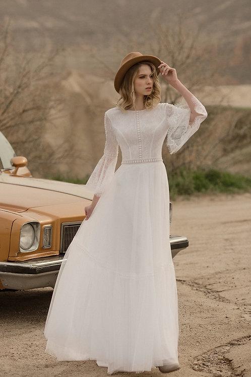 Happy Milva Sheath Wedding Dress- To Order