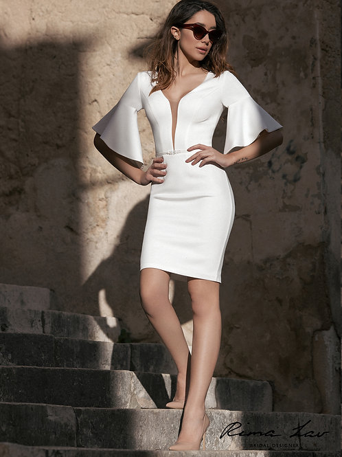 Helena Rima Lav Short Fitted Wedding Dress- To Order