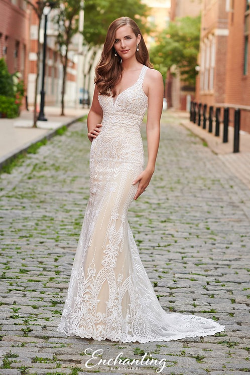 120172 Enchanting Fit & Flare Wedding Dress- In Stock