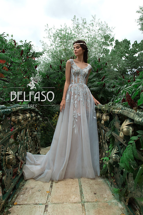 Lillit Belfaso Sheath Wedding Dress- To Order