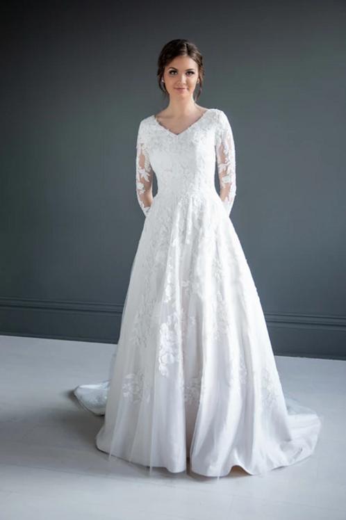 Kristin MC7218 MBC by Barbie A-Line Wedding Dress- To Order