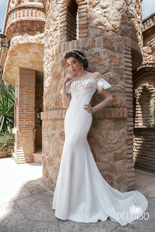 Palmer Belfaso Sheath Wedding Dress- To Order