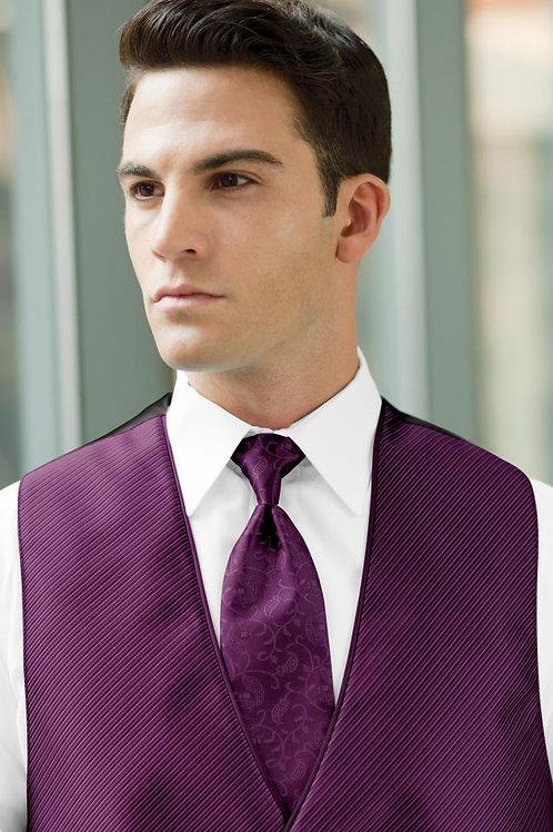 Vine Synergy Violet Windsor Tie