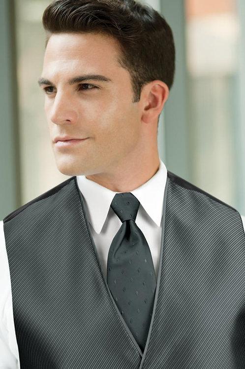 Diamond Synergy Pewter Windsor Tie