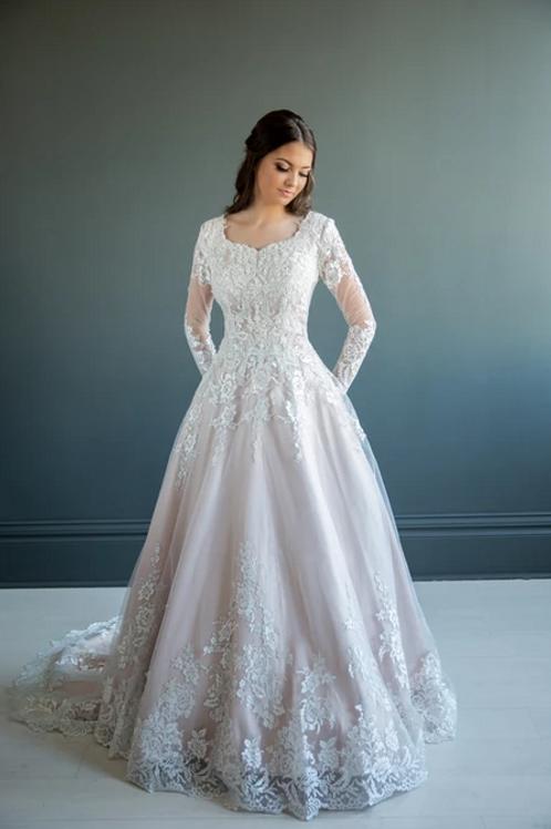 Crystal MC7222 MBC by Barbie Ballgown Wedding Dress- To Order