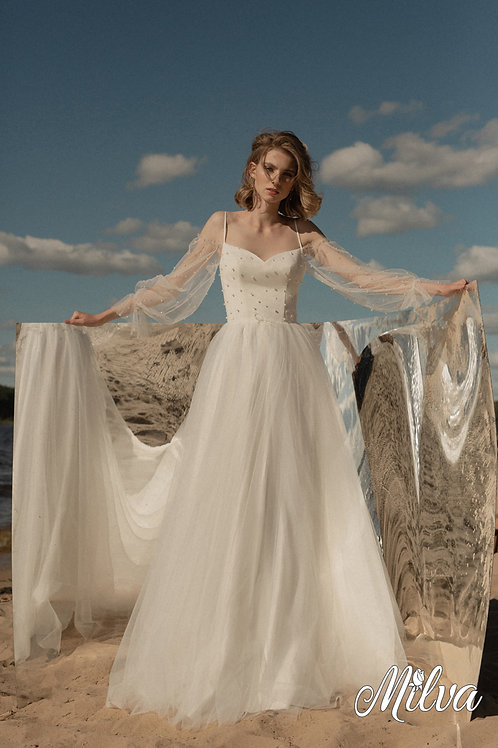 Polly Milva A-Line Wedding Dress- To Order
