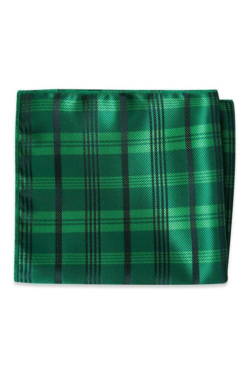 Emerald Plaid Pocket Square