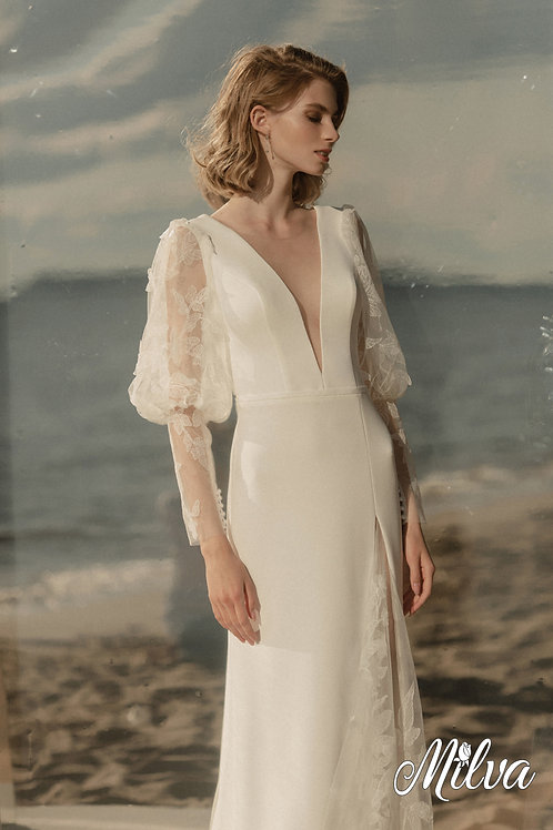 Darla Milva Sheath Wedding Dress- To Order