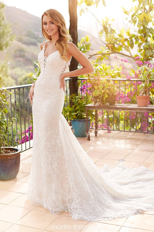 Faye 120245 Martin Thornburg Fit & Flare Wedding Dress- To Order