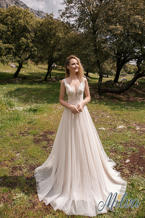 Lotta Milva A-Line Wedding Dress- To Order