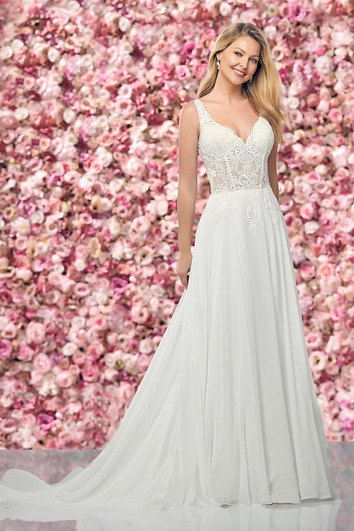 219150 Enchanting Sheath Wedding Dress- In Stock