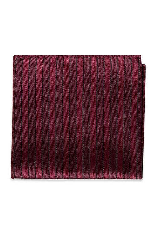 Wine Striped Pocket Square