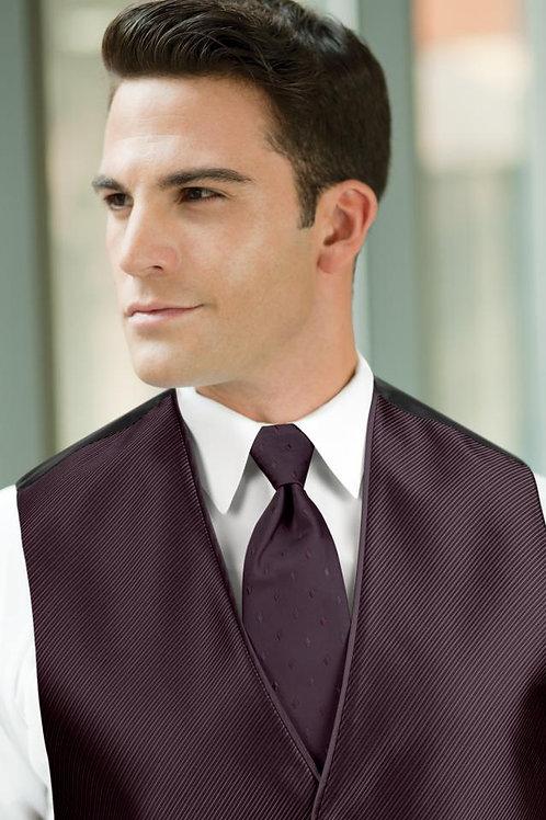 Diamond Synergy Plum Windsor Tie