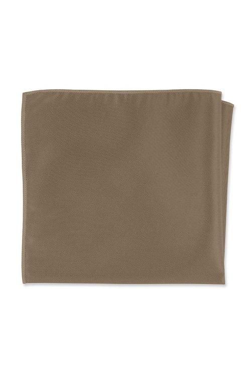 Herringbone Latte Pocket Square