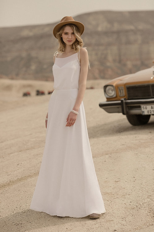 Summer Milva Sheath Wedding Dress- To Order