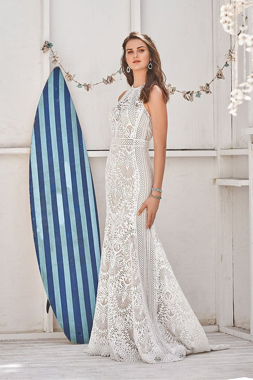 66055 Lillian West Fit & Flare Wedding Dress- To Order