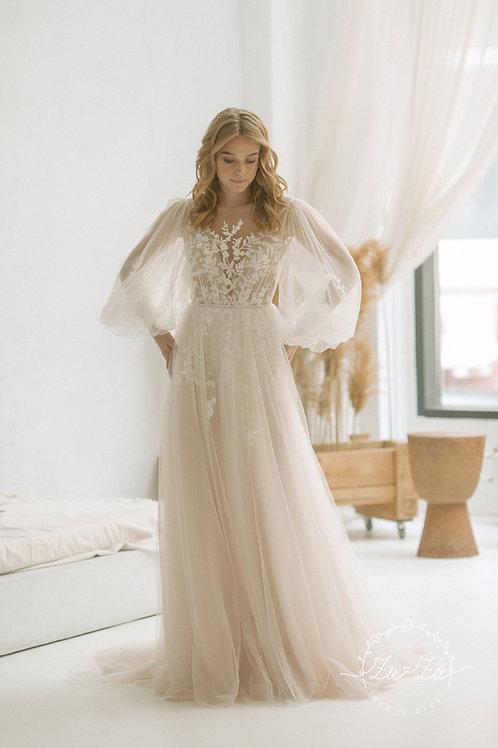 Phillis Zuzu Sheath Wedding Dress- To Order