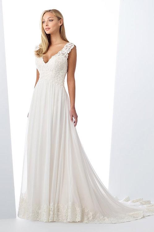 119126 Enchanting A-line Wedding Dress- To Order