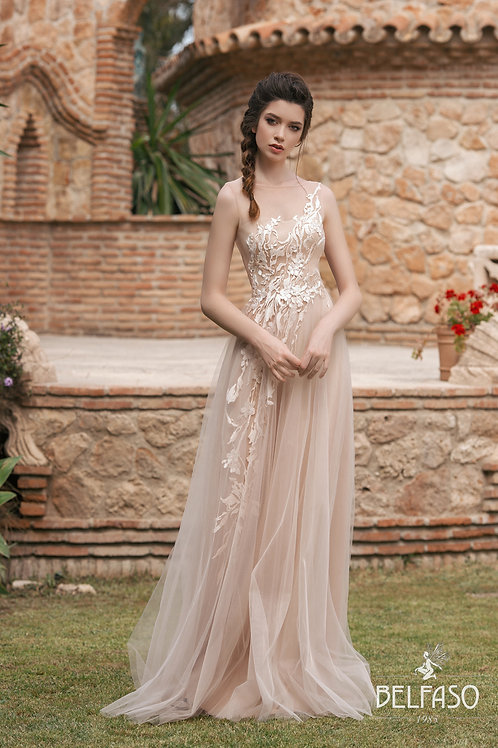 Mirra Belfaso Sheath Wedding Dress- To Order