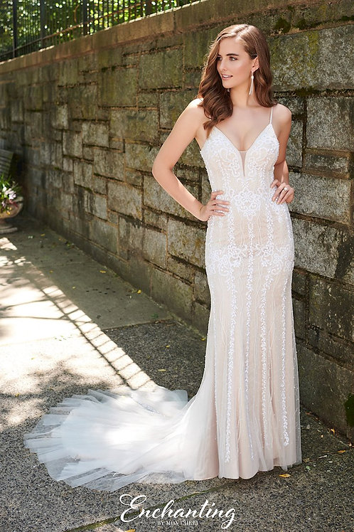 120179 Enchanting Fit & Flare Wedding Dress- To Order