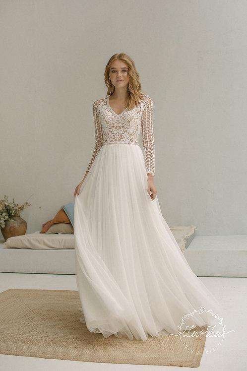 Shany Zuzu Sheath Wedding Dress- To Order