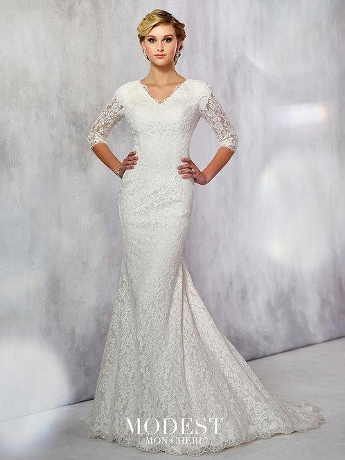 TR21723 Modest by Mon Cheri Trumpet Wedding Dress-In Stock
