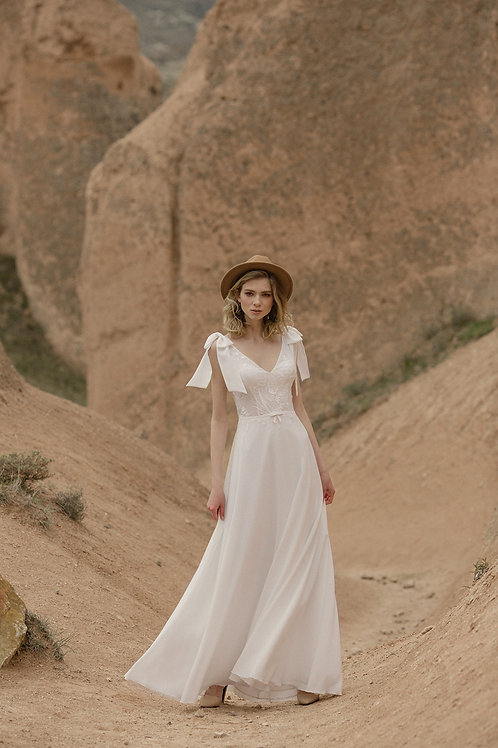 Aquarelle Milva Sheath Wedding Dress- To Order