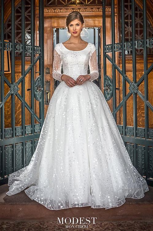 TR22057 Modest by Mon Cheri Ballgown Wedding Dress- To Order