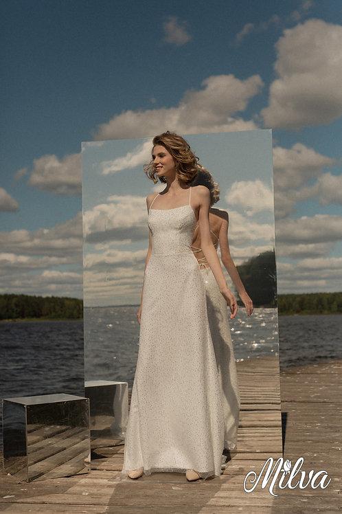 Edith Milva Sheath Wedding Dress- To Order