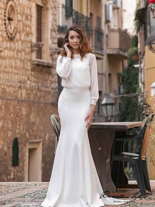 Theron Blouse Rima Lav Wedding Dress- To Order