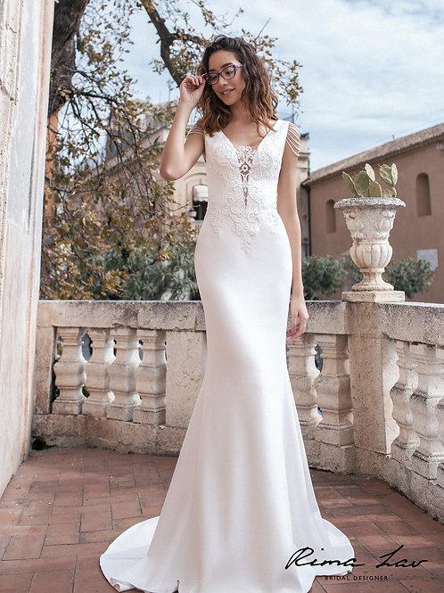 Amira Rima Lav Sheath Wedding Dress- To Order