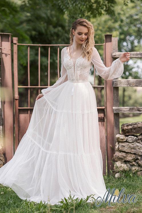 Austin Milva Sheath Wedding Dress- To Order