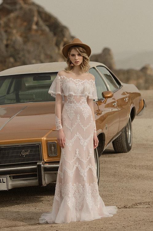 Ravelle Milva Sheath Wedding Dress- To Order