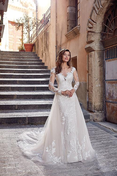 EK1276 EddyK Sheath Wedding Dress- In Stock