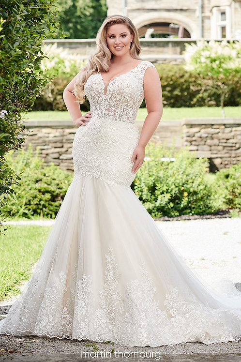 Quin 120241W Martin Thornburg Trumpet Wedding Dress- To Order