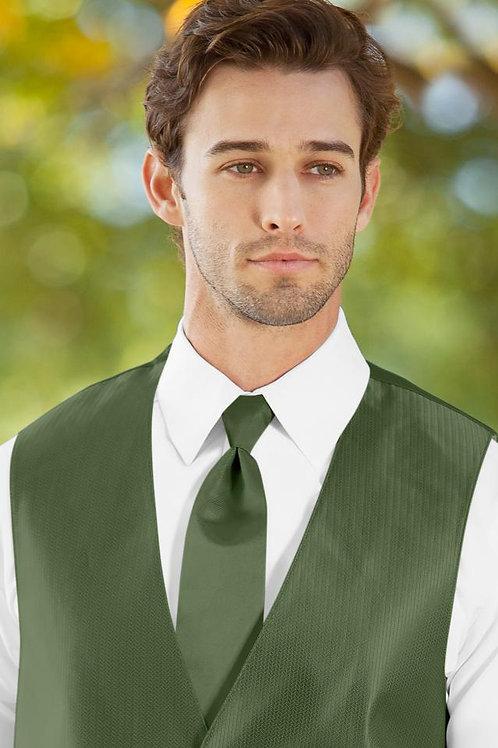 Solid Herringbone Clover Windsor Tie