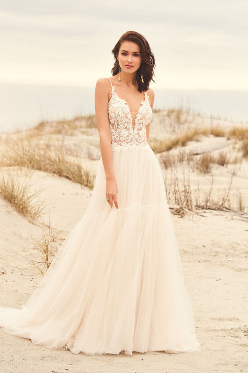 66105 Lillian West A-Line Wedding Dress- To Order