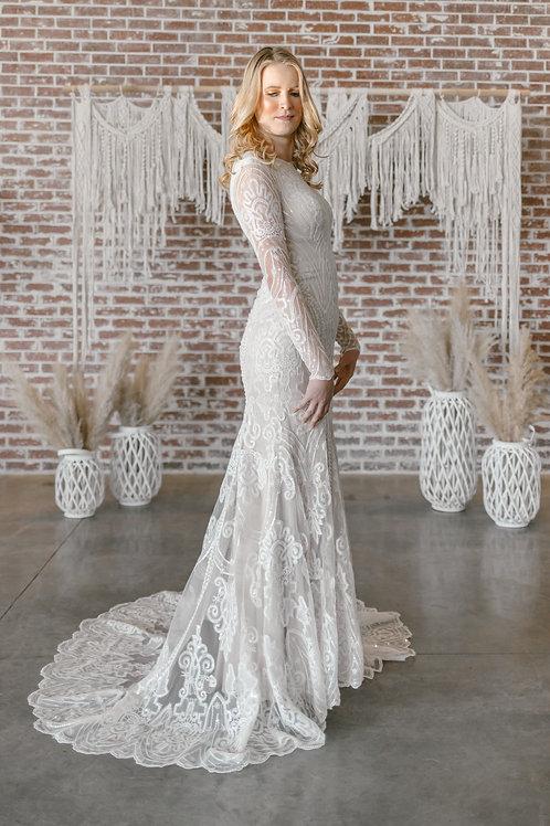CT206M Eddy K Fit & Flare Wedding Dress- To Order
