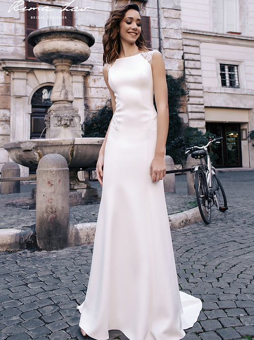 Taylor Rima Lav Sheath Wedding Dress- In Stock
